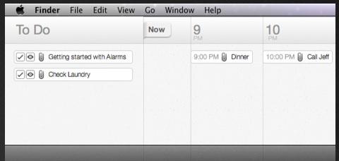 Alarms, interesante aplicación mac de productividad y procrastinación