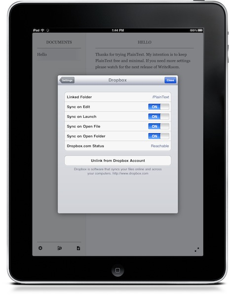 Editores de texto para Dropbox en iPhone e iPad