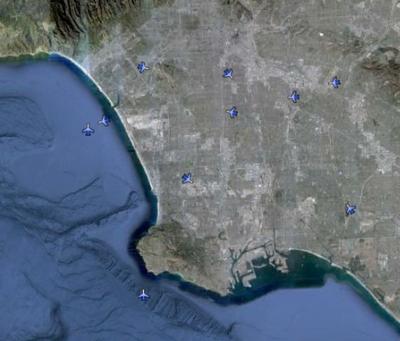 Google Earth permite seguir un vuelo en tiempo real