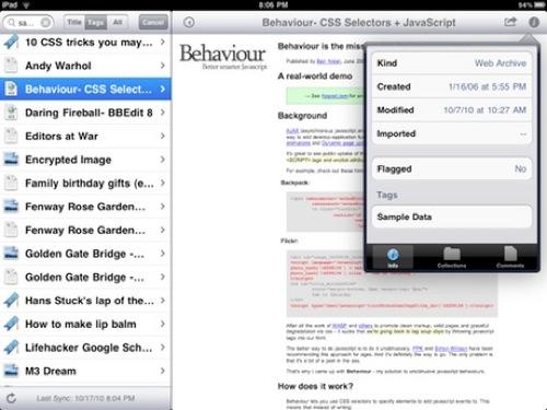 Yojimbo para iPad: ¿llega tarde?