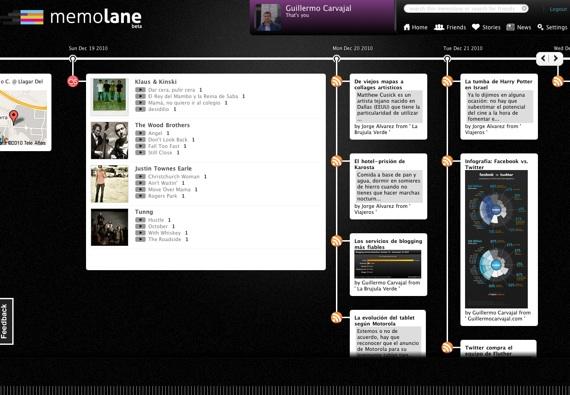 Probando Memolane, una timeline de tu vida digital