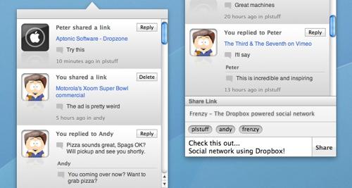 Frenzy, red social basada en Dropbox, publica la primera beta
