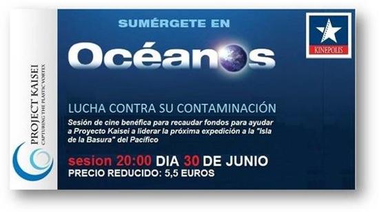 El jueves 30 de junio ve a ver Oceanos con Proyecto Kaisei