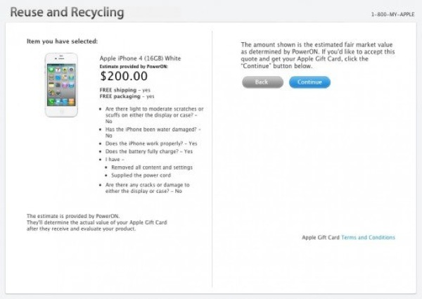 Apple recicling program
