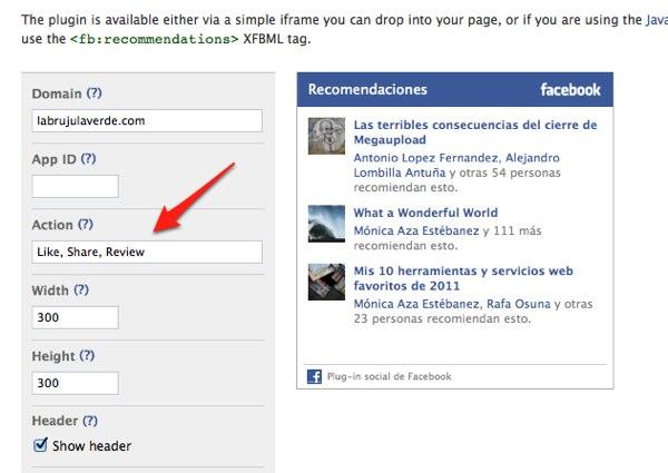 Cómo arreglar el error 'Invalid action type' del plugin de recomendaciones de Facebook