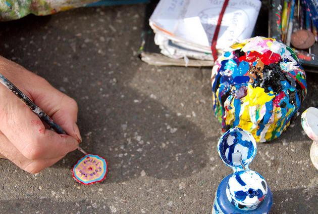 Arte aprovechando chicles suelo Londres