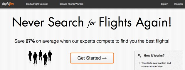 Flightfox, un buscador de vuelos crowd-source