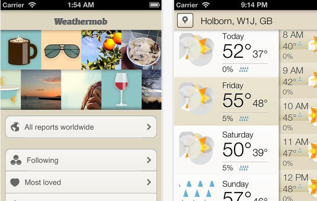 Weathermob, una red social para hablar del tiempo meteorológico