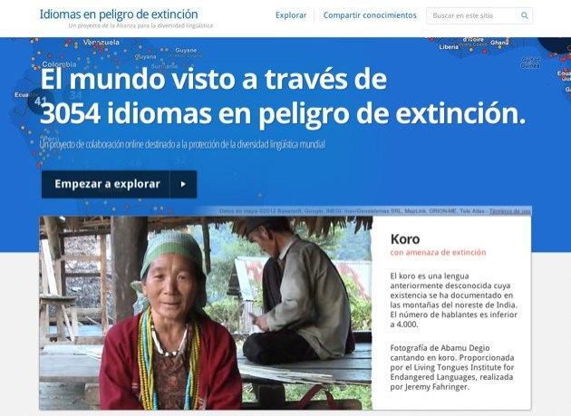 Google lanza el Proyecto Idiomas en Peligro de Extinción