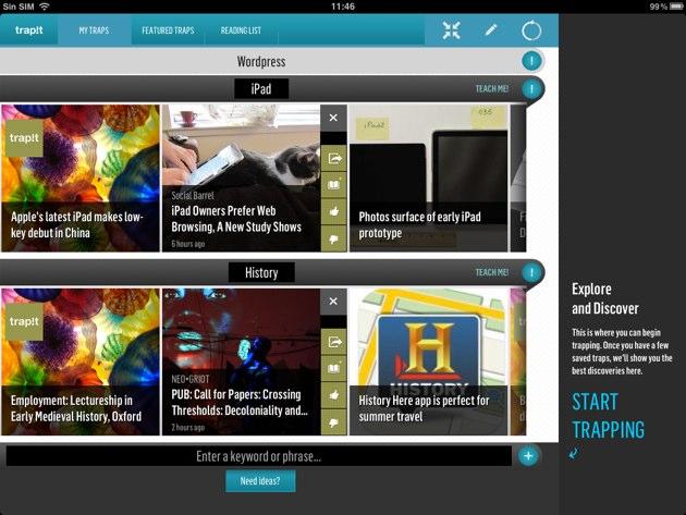 Trapit para iPad: algo más que un lector de noticias