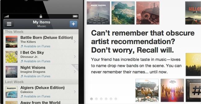 Recall, la wishlist perfecta para el iPhone