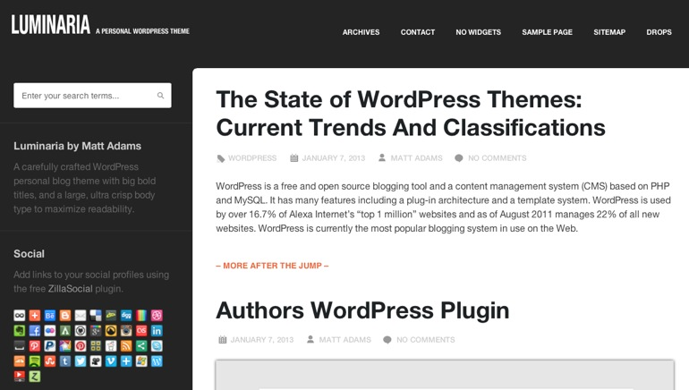 Themes Premium de WordPress – Enero 2013