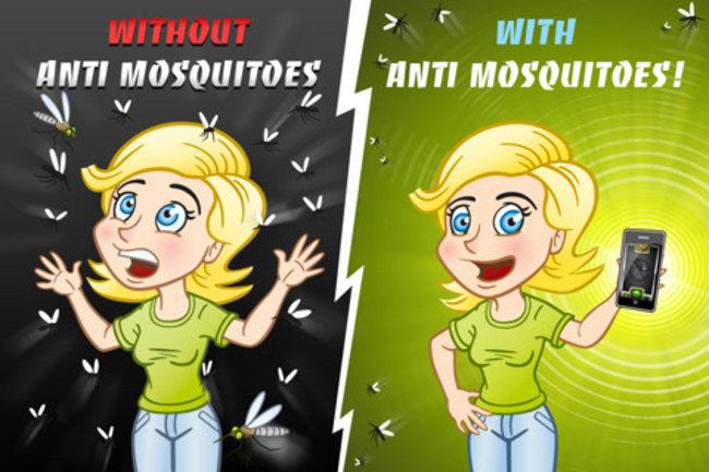 Ultrasonidos contra mosquitos en el móvil