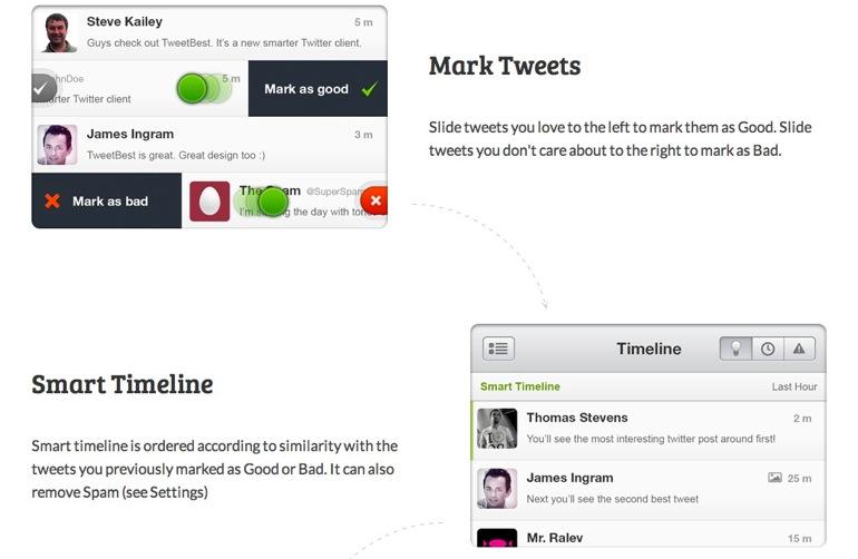 Entrenando al timeline de Twitter con TweetBest