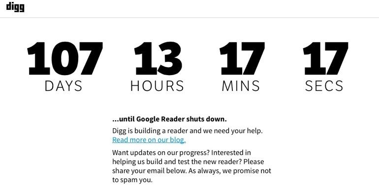 Digg y el nuevo Google Reader