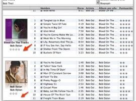 Puntuación media de álbumes en iTunes
