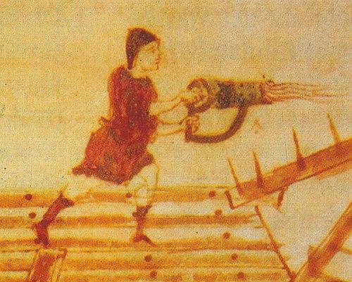 Arquímedes uso cañones de 'fuego griego', no espejos