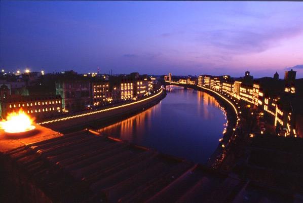 La Luminara de San Ranieri en Pisa