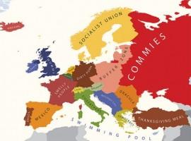Mapa de Europa según los norteamericanos