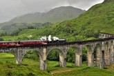 Glenfinnan Viaduct and the Hogwarts Express