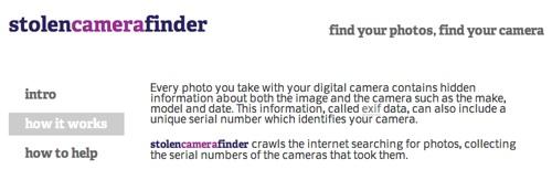 Cómo encontrar una cámara perdida…o robada