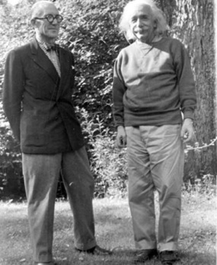 El encuentro entre Albert Einstein y Le Corbusier