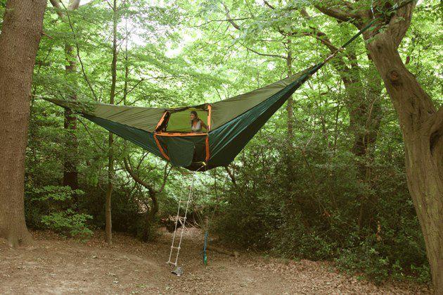 Tentsile, una tienda de campaña en los árboles