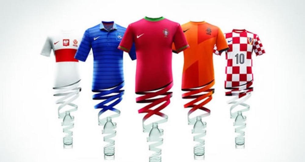 Las camisetas de Nike para la Eurocopa se hicieron con botellas de plástico recicladas