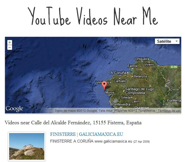 Descubre vídeos grabados cerca de ti con Youtube Videos Near Me