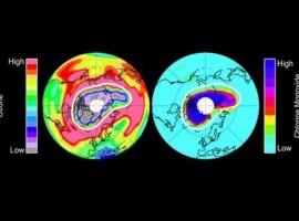 Decrece de tamaño el agujero de la capa de ozono de la Antártida