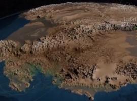 Un mapa topográfico de la Antártida sin hielo