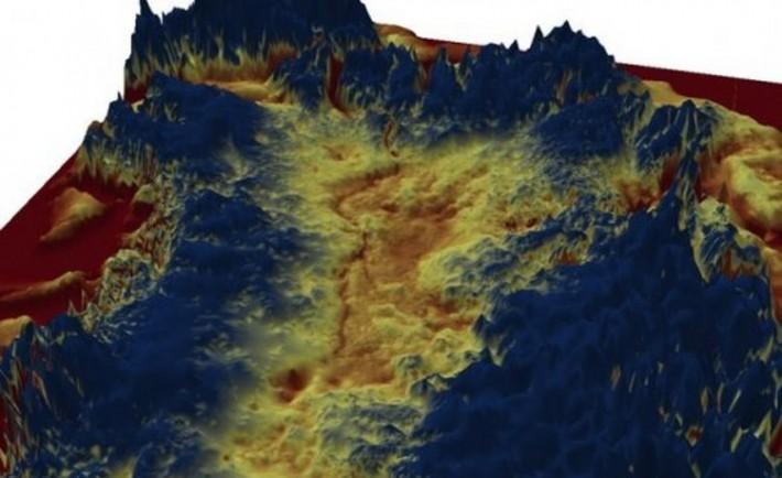 Descubren gran cañon bajo hielo Groenlandia