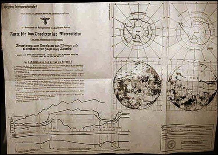El mapa nazi de la Tierra Hueca
