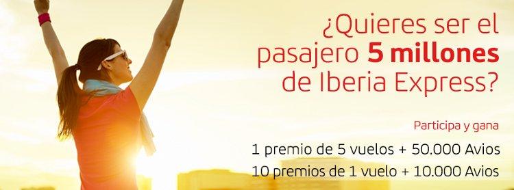 Premio por ser el pasajero cinco millones de Iberia Express