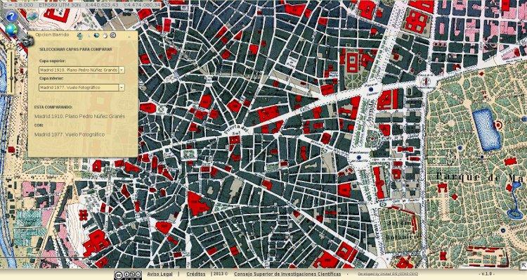 Hisdi mad un mapa digital hist rico de madrid - Centro historico de madrid ...