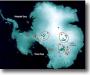 Enormes lagos bajo el hielo Antártico