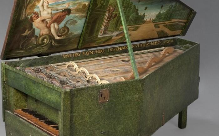 Geigenwerk instrumento musical inspirado diseño Leonardo da Vinci 2