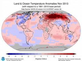 El noviembre más calido desde que hay registros