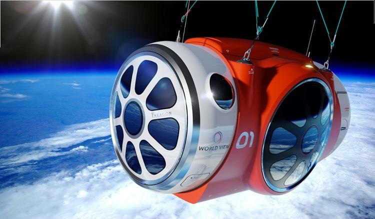 World View, viajes espaciales en globo para 2016
