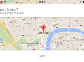 La aplicación Google Maps se actualiza y podremos guardar mapas para consultarlos offline