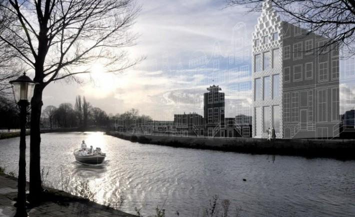 Construyen casa Amsterdam con impresora 3D