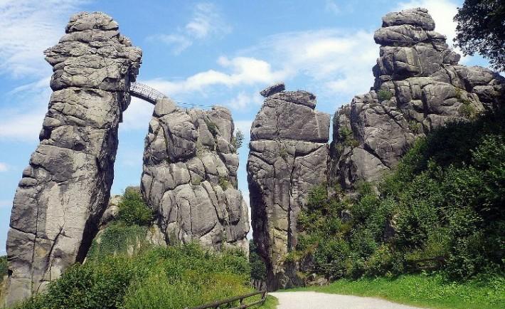 Fantasticas legendarias rocas Externsteine