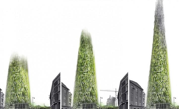 Rascacielos crece deshechos inquilinos