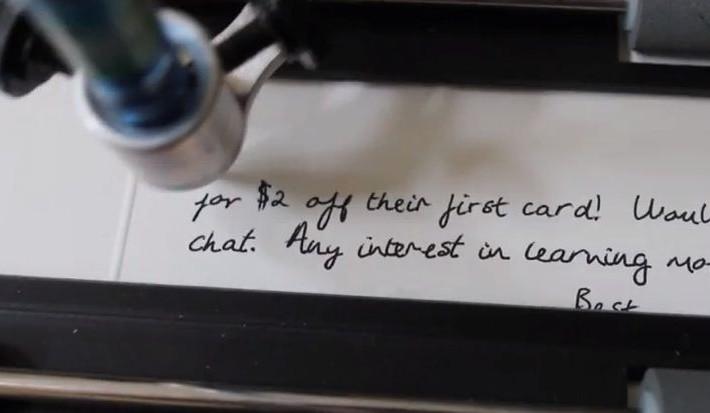 escritura robot 0