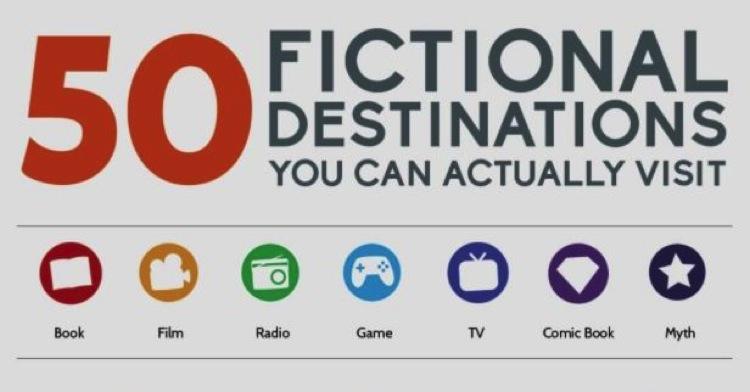 50 lugares de ficción que puedes visitar