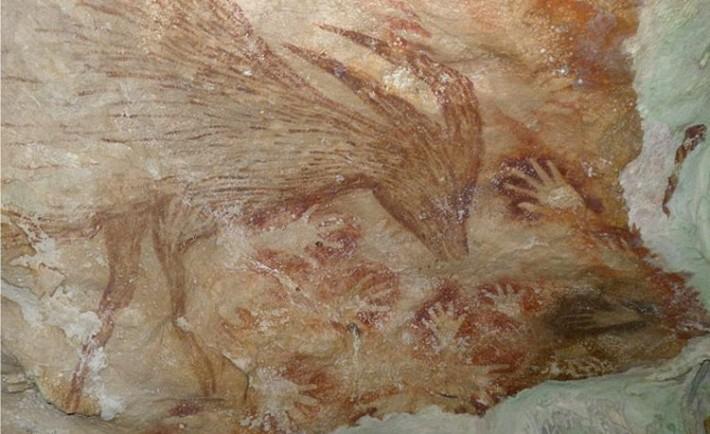 Nuevas pinturas rupestres Indonesia