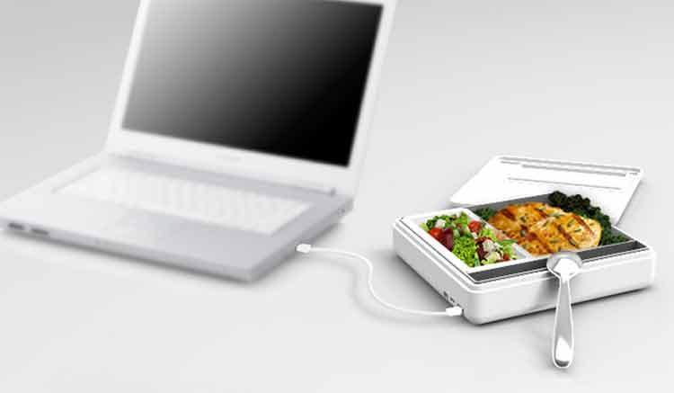 Papilla, un calentador de comida por USB