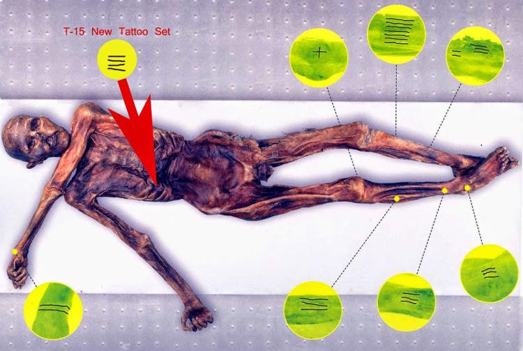 Los tatuajes de Ötzi, el Hombre del Hielo