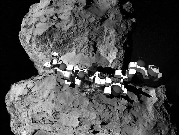 Un concepto propone construir estaciones espaciales en cometas para viajar por el espacio