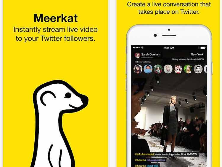 Meerkat, la app de vídeo en streaming para iOS de moda